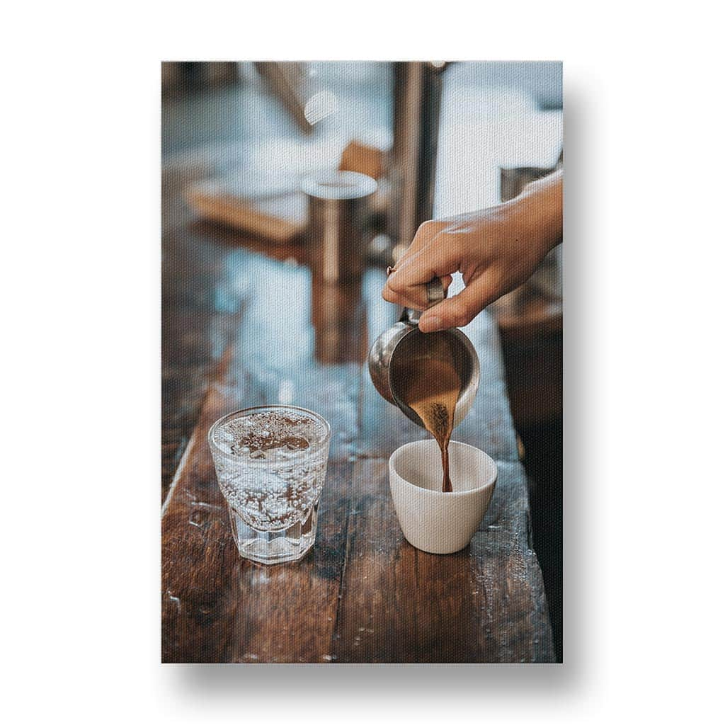 Pouring Coffee Canvas Print