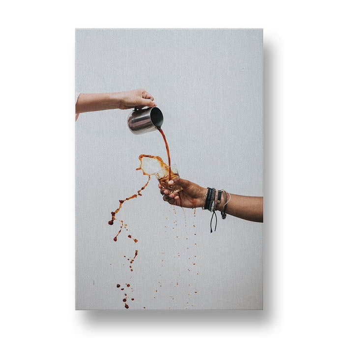 Coffee Splash Canvas Print