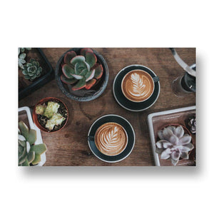 Barista Coffee Art Canvas Print