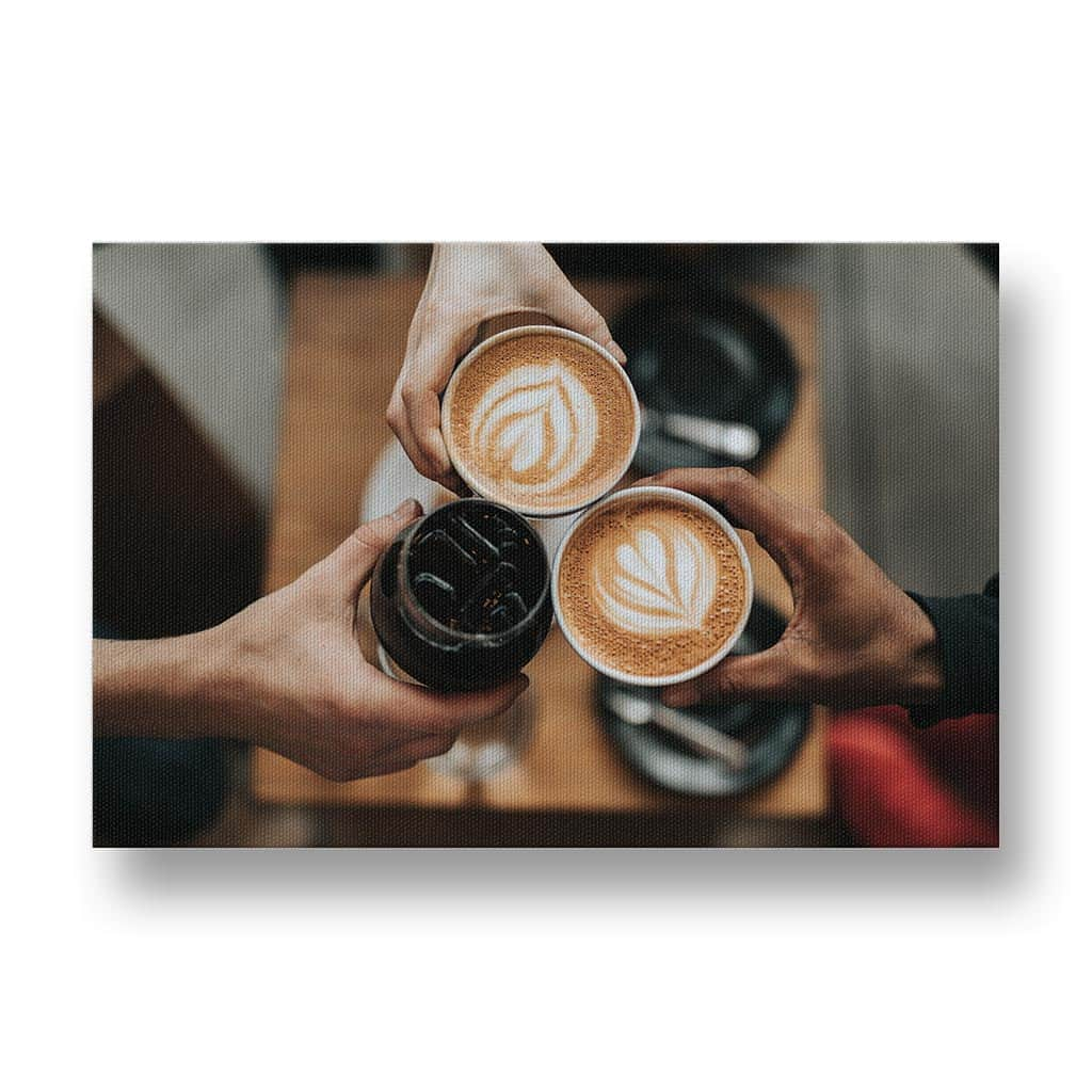 Getting Together for Coffee Canvas Print
