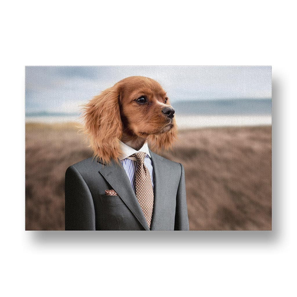 Dog in Mens Suit Canvas Print