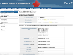 http://www.ic.gc.ca/opic-cipo/cpd/eng/patent/3005014/summary.html?query=thca&start=1&num=50&type=basic_search