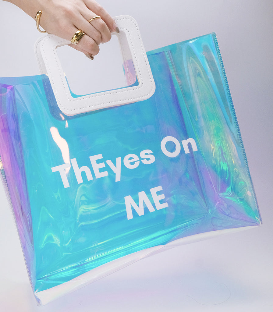 ThEyesOn You Tote/Shopper Bag in Laser Vinyl - ThEyes On