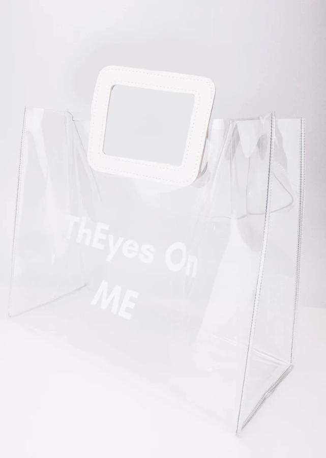 ThEyesOn You Tote/Shopper Bag in Clear Vinyl - ThEyes On