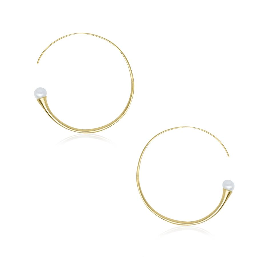 On Diet Mid Hoops in 18k Gold - ThEyes On