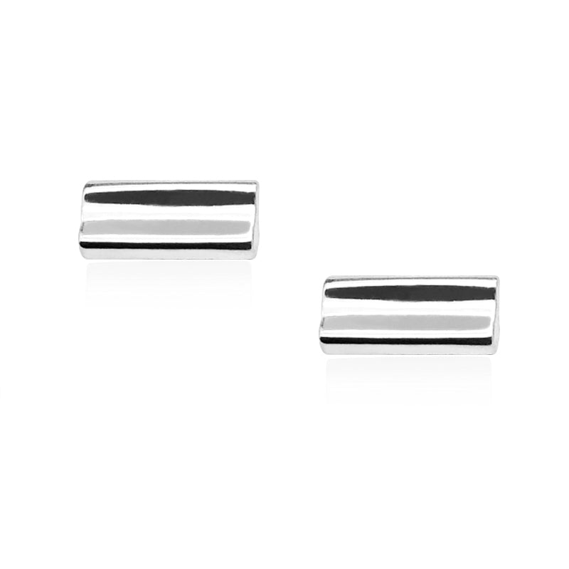 Adoring Rectangle Stud in Rhodium 925 Silver - ThEyes On