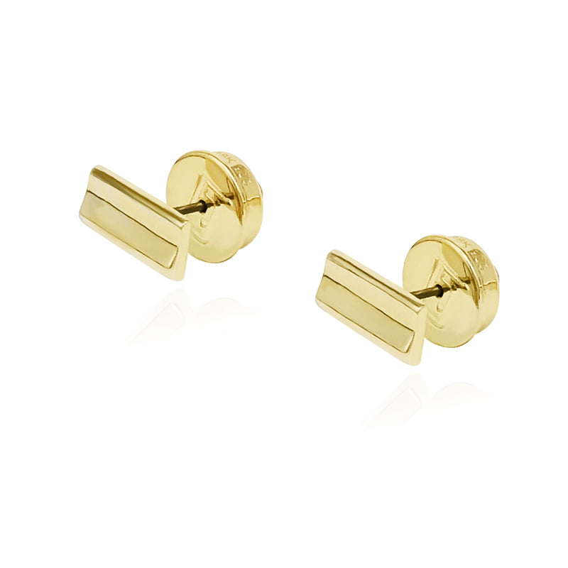 Adoring Rectangle Stud in 18k Gold - ThEyes On