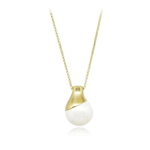 Devotion Pendant Necklace in 18k Gold - ThEyes On