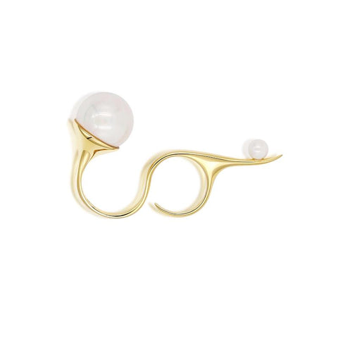 Devotion Double Ring in 18k Gold - ThEyes On