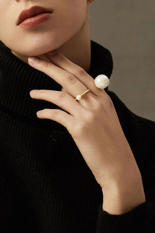 2 Finger Ring- Adjustable Ring-18k Gold - Vermeil-ThEyes On