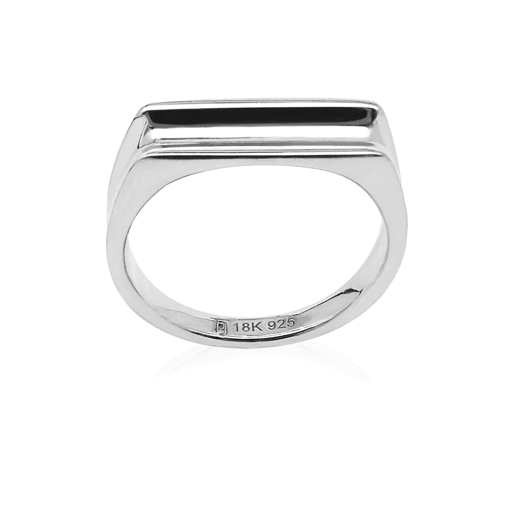 Adoring Curved Ring in Rhodium 925Silver - ThEyes On