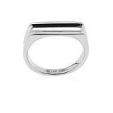 Adoring Curved Ring in Rhodium 925Silver