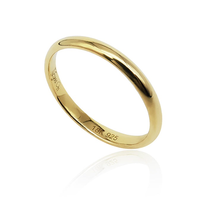 On Diet Pudding Ring in 18k Gold - ThEyes On