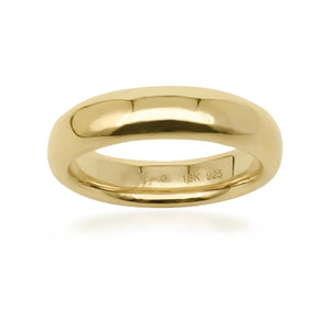 On Diet Wide Pudding Ring in 18k Gold - ThEyes On