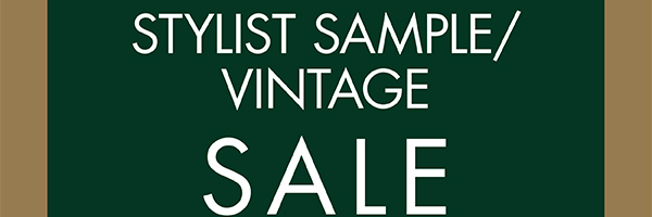 Stylist sample / vintage sale