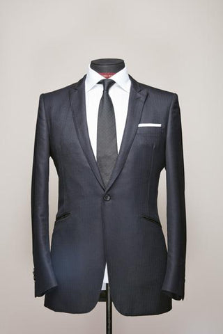 Midnight Blue Narrow Peak One Button Suit
