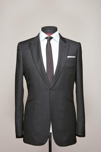 Black Mid Peak Suit