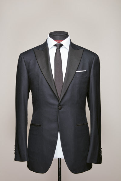 Midnight Blue Royal Silk Peak Tuxedo Suit