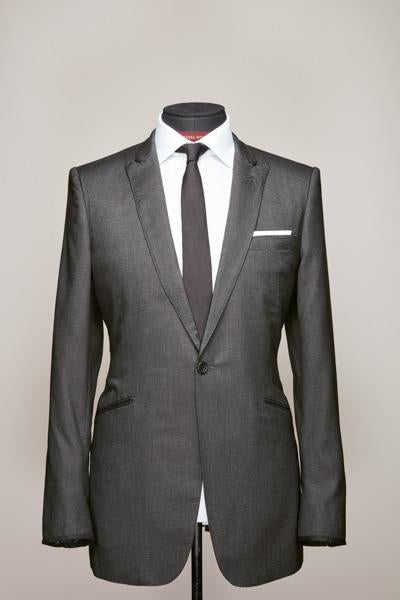 Peak Lapel Grey Royal Silk Suit