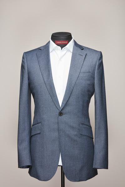 Mid Notch One Button Light Blue Wool Suit