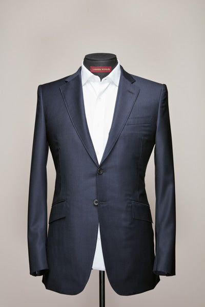 Mid Notch Two Button Dark Navy Suit