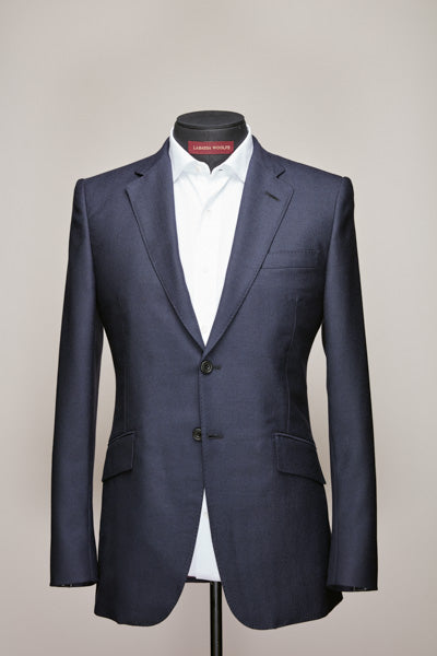Mid Notch Two Button Dark Navy British Suit