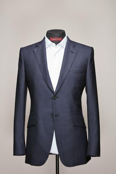 Dark Navy Two Button Mid Notch Suit
