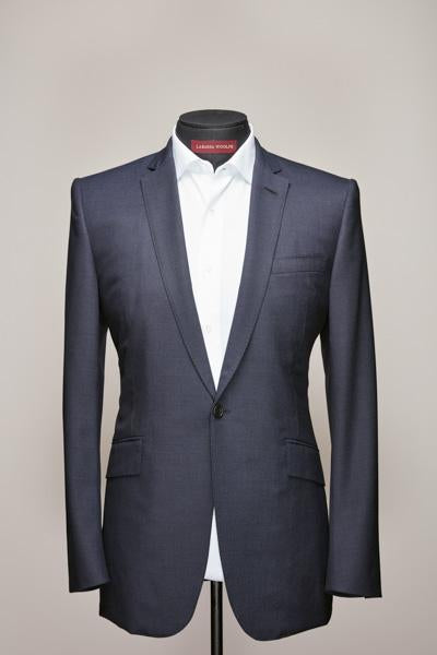 Narrow Notch One Button Midnight Blue Wool Suit