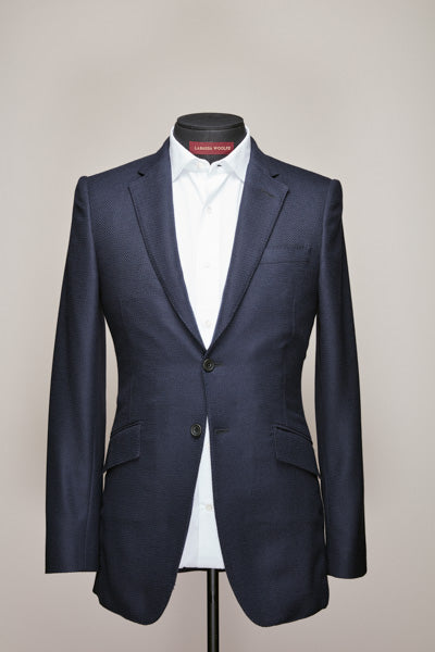 British Textured Wool two Button Blazer
