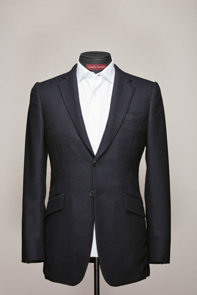 Midnight Blue Two Button Mid Notch Blazer