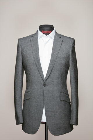 Grey Fresco Narrow Notch Lapel Suit