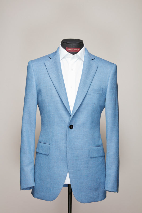 Light Blue Notch Lapel Jacket