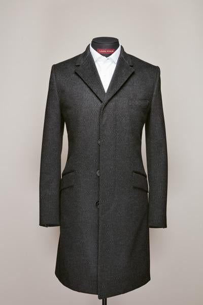 Charcoal Grey Cashmere Top Coat