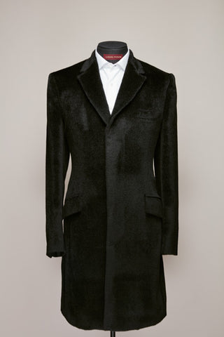 Black 100% Alpaca Topcoat