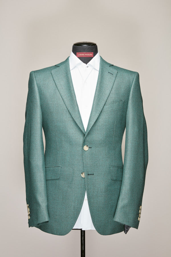 Sea Green Mid Notch Lapel Jacket