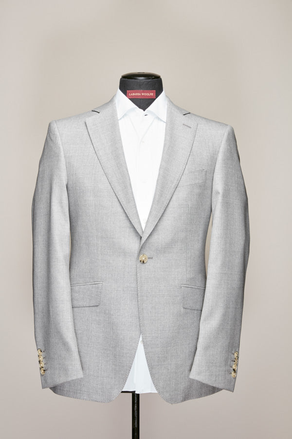 Light Grey Mid Notch One Button Suit
