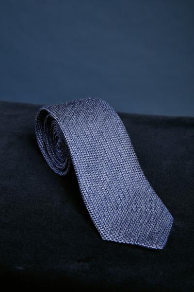 Blue Pattern Silk Tie