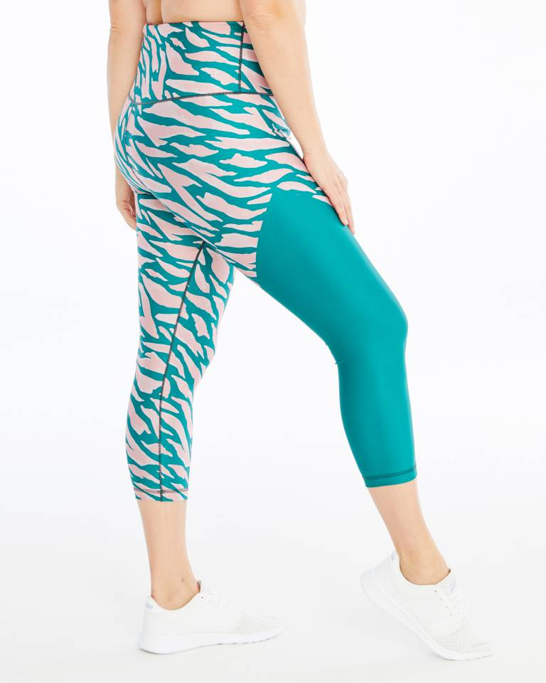 All Grévy Color Block ¾-Length Legging Day Won