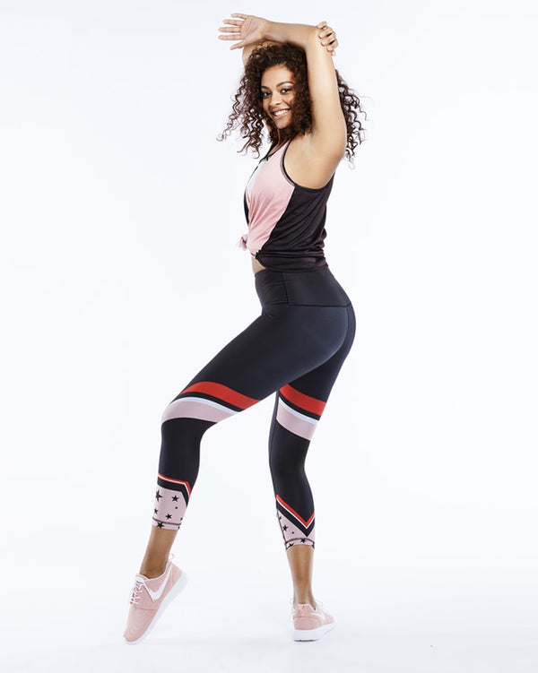 Color Block ¾-Length Legging