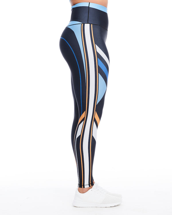 Color Block Full-Length Legging (Blue)