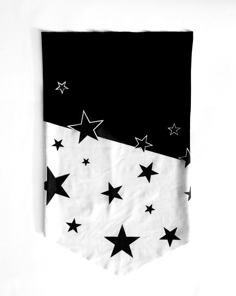 All-in-Won Bandana - Black and White Star