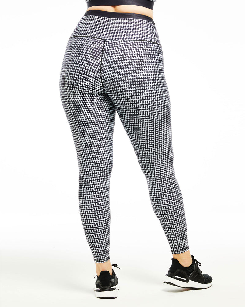 Houndstooth Full-Length Legging