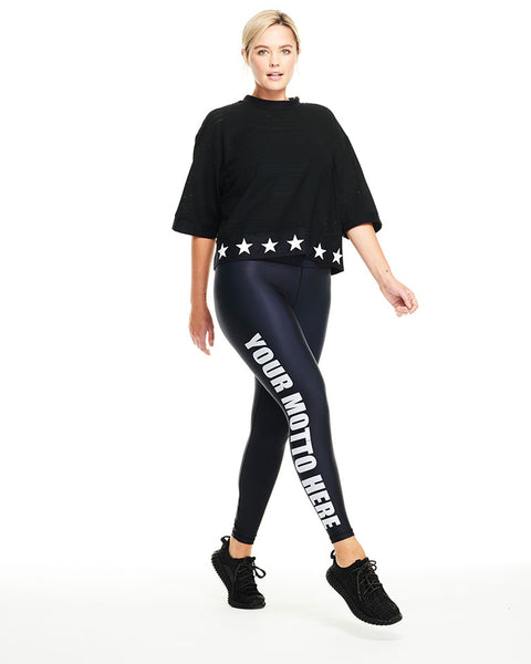 Customizable Motto Legging