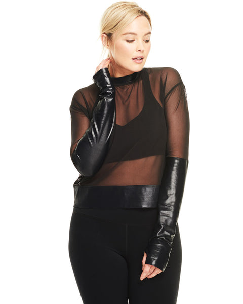 The Onyx Mesh Long Sleeve Activewear Apparel DAY/WON