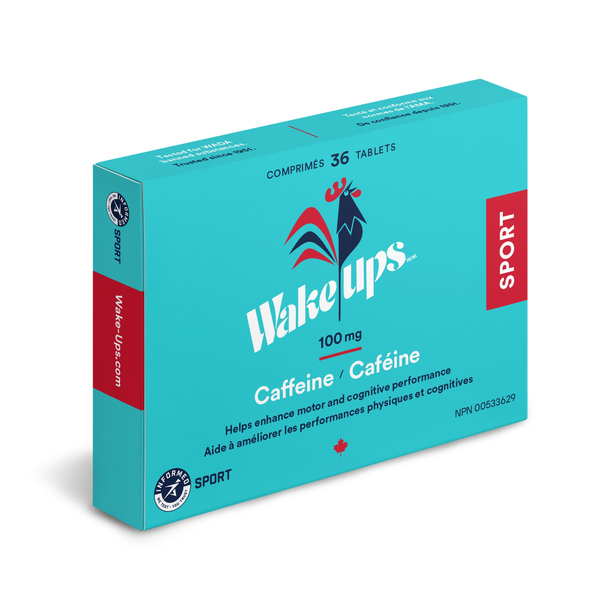 100mg Certified Caffeine - 216 tablets