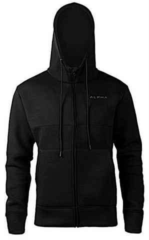 ALPHA Mens Hoodies - Hooded Zipper Hoodie - Sweatshirt - Mens Zipper Hoodie