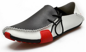 Mens High Quality Casual Genuine Leather Shoes - Men Slip On Loafers
