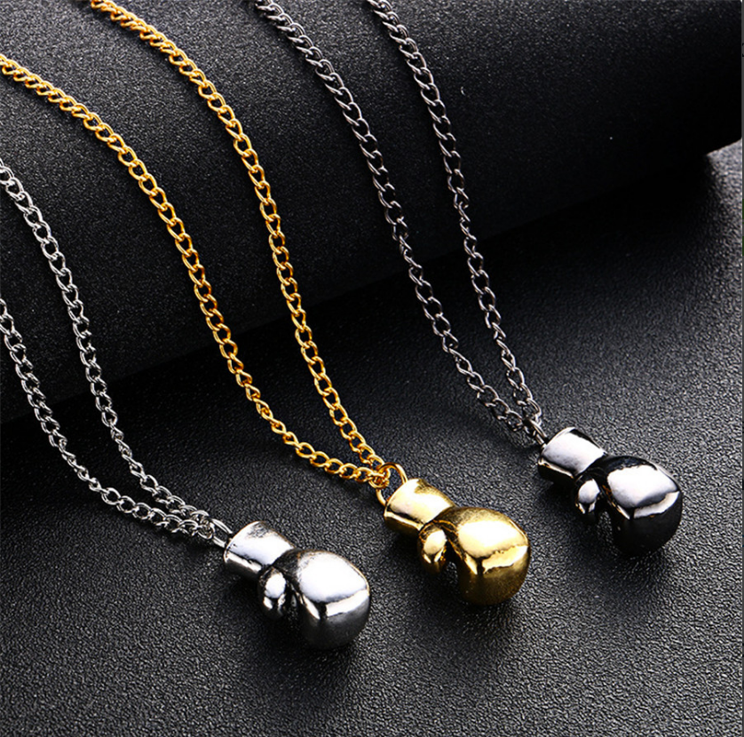 Boxing glove mens necklace cool pendant for men 3 colors brand boxing glove mens necklace cool pendant for men 3 colors aloadofball Images