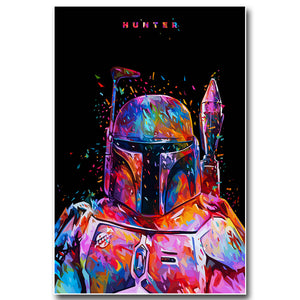 BOBA FETT HUNTER Star Wars Canvas Wall Art - Movie Picture Wall Home Decor