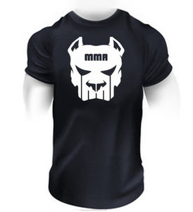 Mens MMA T SHRIT - MMA Fighting Mens Pit Bull T Shirt